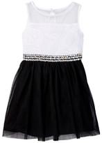 My Michelle mymichelle Soutache & Tulle Dress (Big Girls)