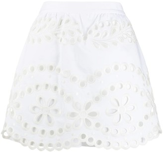 RED Valentino Broderie Anglaise shorts