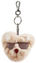 Karl Lagerfeld Fur Keychain