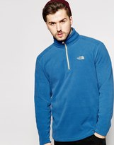 The North Face 100 Glacier 1/4 Zip Fleece - Blue