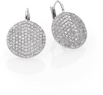 Phillips House Affair Diamond & 14K White Gold Infinity Leverback Earrings