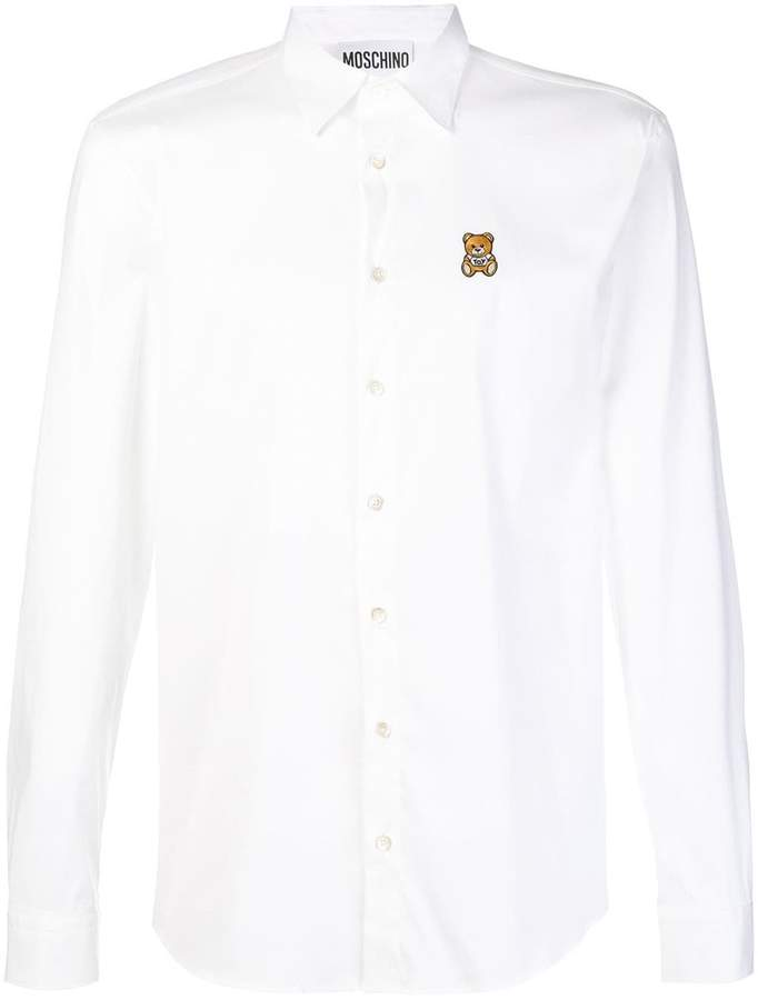 53d813e5b987 Moschino White Men's Shirts - ShopStyle