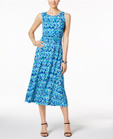 Jessica Howard Petite Printed Ruched Midi Dress