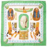 Hermes Women's Vintage Green Ramses Scarf 90