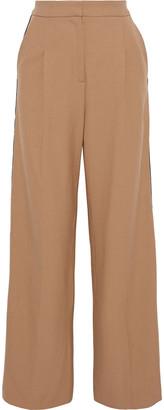 Maje Crepe-trimmed Twill Wide-leg Pants