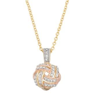 10k Gold 1/5 Carat T.W. Love Knot Pendant