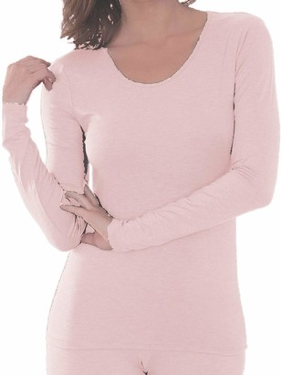Charnos Second Skin Long Sleeve Top Pink Large