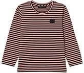 Acne Studios Pale Pink and Black Stripe Mini Napa Face T-Shirt