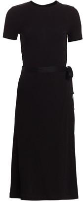 Rosetta Getty Apron Wrap T-Shirt Dress