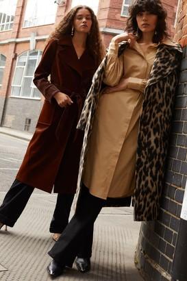 Topshop Womens Camel Oversized Midi Shirt Dress - Camel