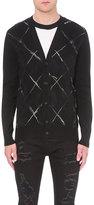 Alexander Mcqueen Argyle Check Wool And Mohair-blend Cardigan