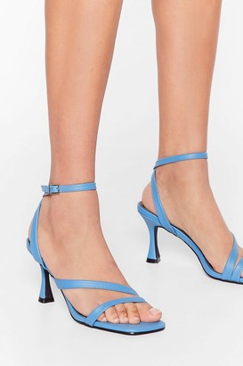 Nasty Gal Womens Louis Heel the Power Strappy Sandals - Blue