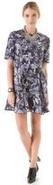 Markus lupfer Silk Oil Print Flare Dress