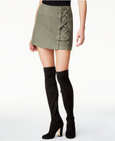Kensie Laced Faux-Suede Stretch Skirt