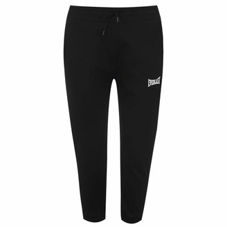 Everlast Womens Three Quarter Jogging Pants Three Quarter Bottoms Trousers Black (M) 12