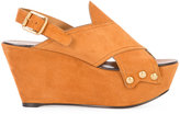 Chloé Mischa wedge sandals - women - Leather/Suede - 36