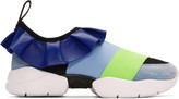 Emilio Pucci Blue Colorblock Sneakers