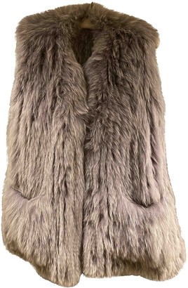 Utzon Grey Fox Coat for Women