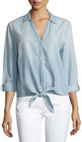 Soft Joie Crysta Chambray Tie-Hem Shirt