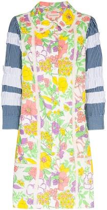 Rentrayage Panelled Floral-Print Dress