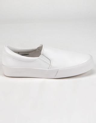 Soda Sunglasses Reign Girls White Slip-On Shoes