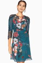 Little Mistress Amelie Vintage Lace Floral Tea Dress