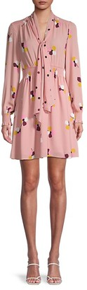 Kate Spade Glitzy Ritzy Dusk Buds Print Mini Dress