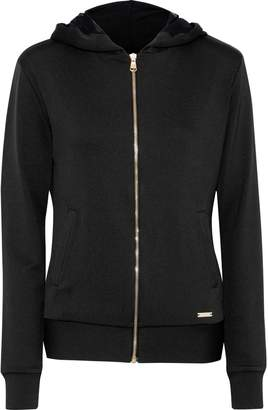 Versace Crystal-embellished Stretch-jersey Hoodie