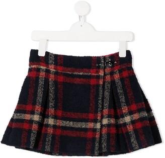 Fay Kids Check-Print Skirt
