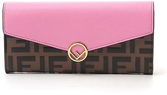 Fendi Logo Clasp Continental Wallet