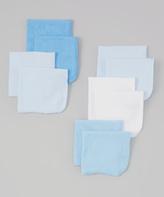 SpaSilk Blue Washcloth - Set of 10