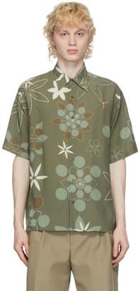 Fendi Green Kaleidoscope Floral Shirt