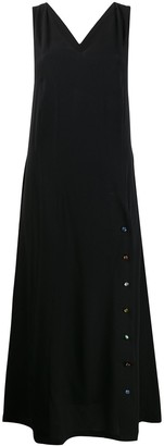 Frankie Morello Cross Back Long Dress