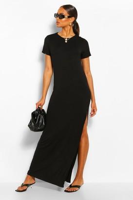 boohoo Split Short Sleeve Maxi Dress