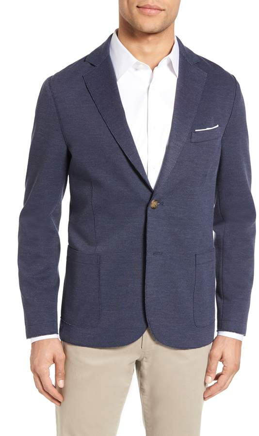 Eleventy Trim Fit Jersey Sport Coat