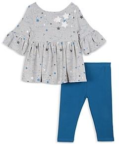 Pippa & Julie Girls' Star Bell Sleeve Top & Denim Legging Set - Baby
