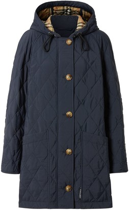 Burberry Diamond Quilted Thermoregulated Hooded Coat