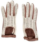 Rag & Bone Woven-Trimmed Leather Gloves