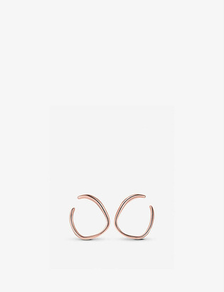 Monica Vinader Nura Reef Wrap 18ct rose-gold vermeil earrings