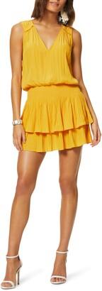 Ramy Brook Catilin Tiered Ruffle Sleeveless Minidress