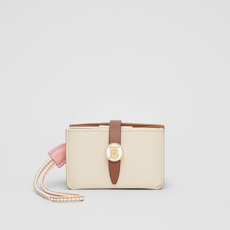 Burberry Monogram Motif Colour Block Leather Card Case