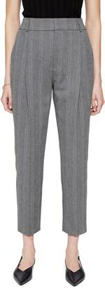 Anine Bing Becky Herringbone Trousers