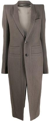 Rick Owens Structured Shoulder Coat