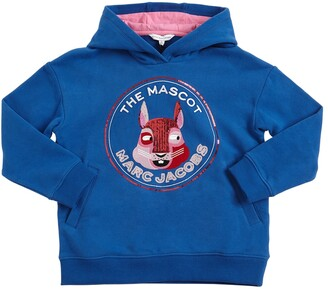 Little Marc Jacobs Embroidered Cotton Sweatshirt Hoodie