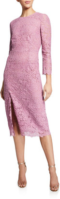 Etro Lace Fitted Midi Dress