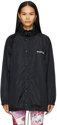 Balenciaga Black Defile Rain Jacket