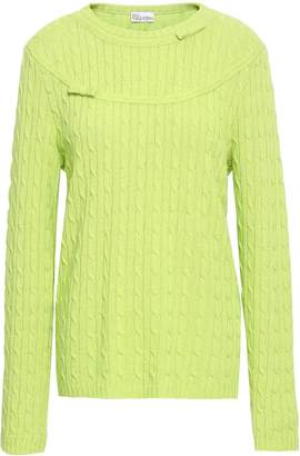 RED Valentino Bow-embellished Cable-knit Sweater