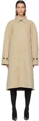 Balenciaga Beige Twill Car Coat