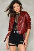 Nasty Gal nastygal Ride On Vegan Leather Cropped Moto Jacket