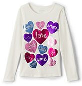 Classic Girls Plus Roll-Neck Graphic Knit Tee-Leopard Heart